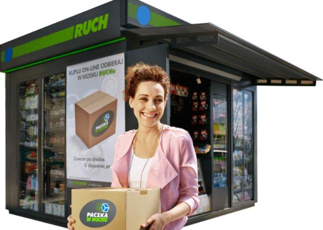Wysyłaj produkty ze sklepu internetowego za pomocą Paczka w Ruchu